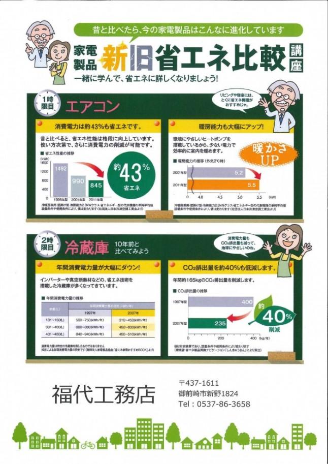 2014.12.17 家電製品 新旧省エネ比較